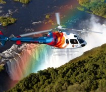 Zambia 1 Helicopter over the falls